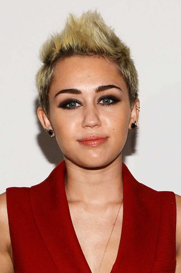Miley Cyrus attends the Rachel Zoe Fall 2013