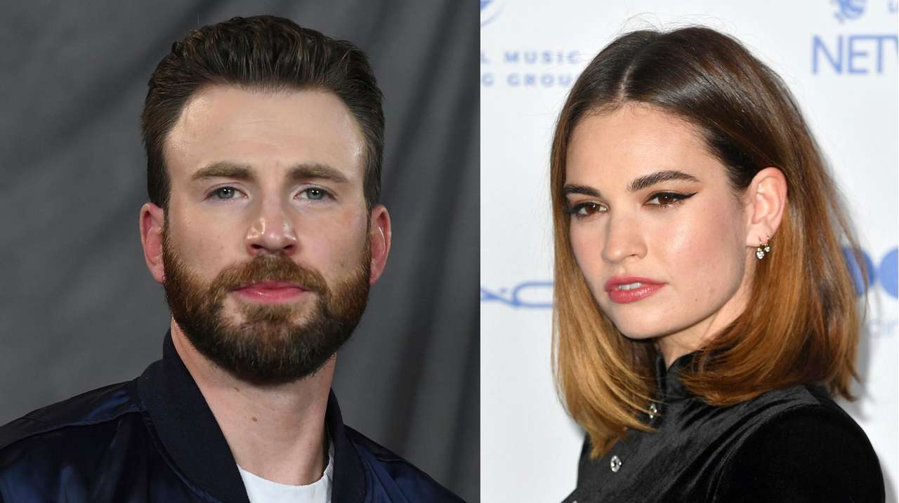 New couple? Chris Evans, Lily James seen together in London | Newsday