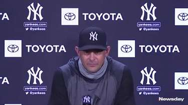 At a press conference on Monday, Yankees manager Aaron