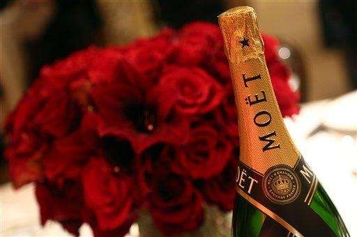It's Champagne season. Good options include Moët &