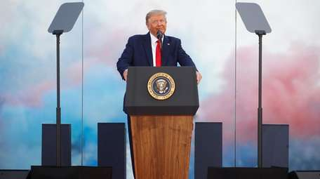 President Donald Trump at Saturday's Fourth of July