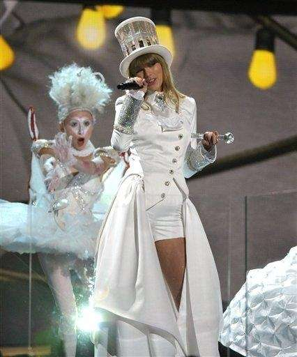 Taylor Swift performs at the 55th Grammy Awards