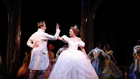 Santino Fontana and Laura Osnes in Rodgers and