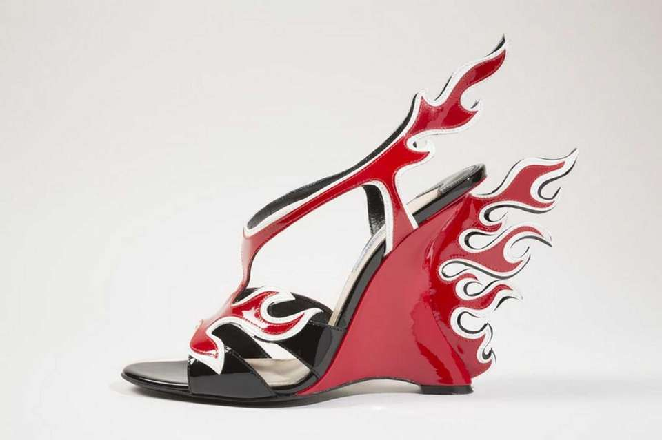 Prada shoes, from the spring 2012 collection, are