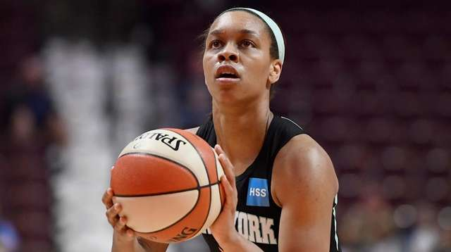 The Liberty's Asia Durr during the second half