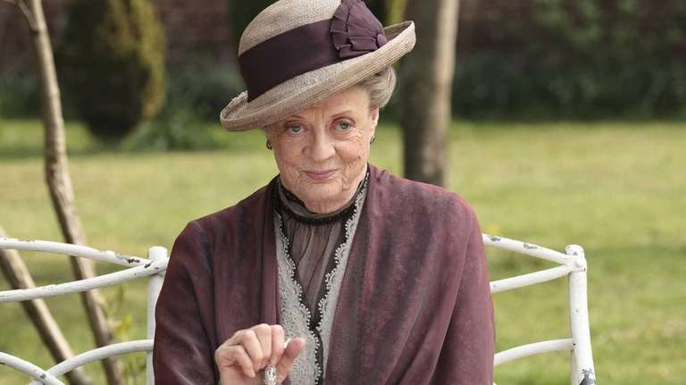 Maggie Smith as the Dowager Countess Grantham, is