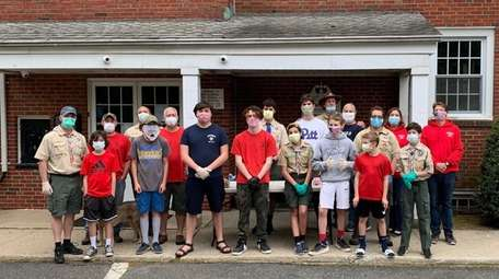 Scouts from Troop 12 of the Suffolk County