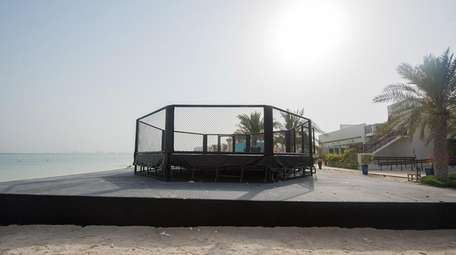 An octagon was constructed on the beach of