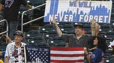 Fans remembering 9/11 before a game between the