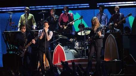 Maroon 5 performed at this year's Grammy Awards.