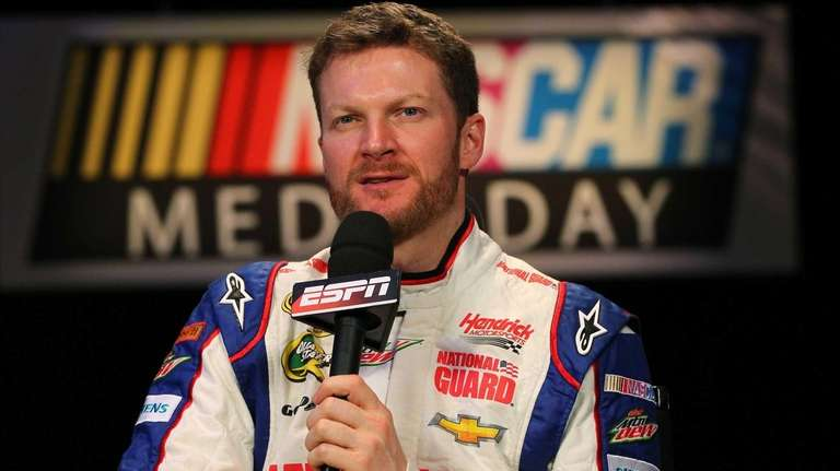 NASCAR driver Dale Earnhardt Jr. speaks to the