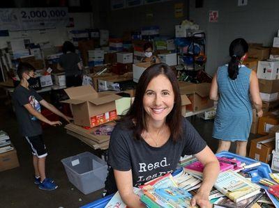 Amy Zaslansky, the founder of Book Fairies, with