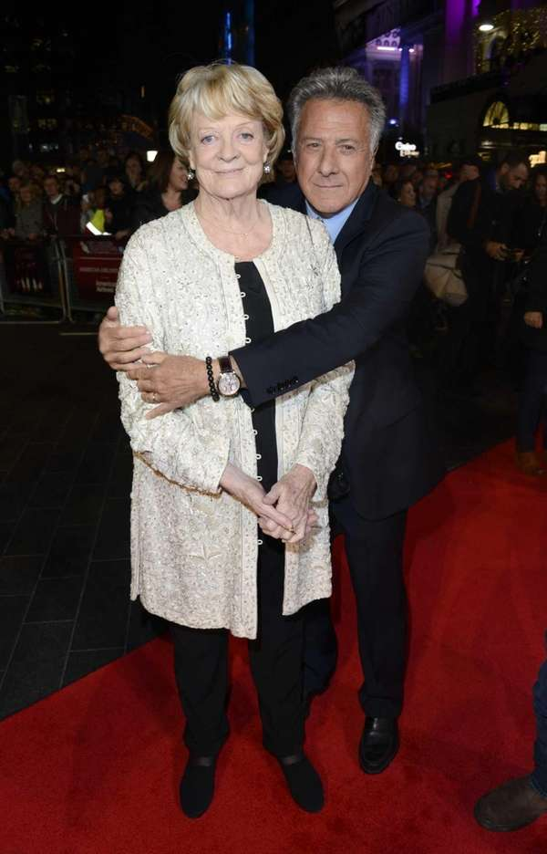 Dame Maggie Smith and Dustin Hoffman at the