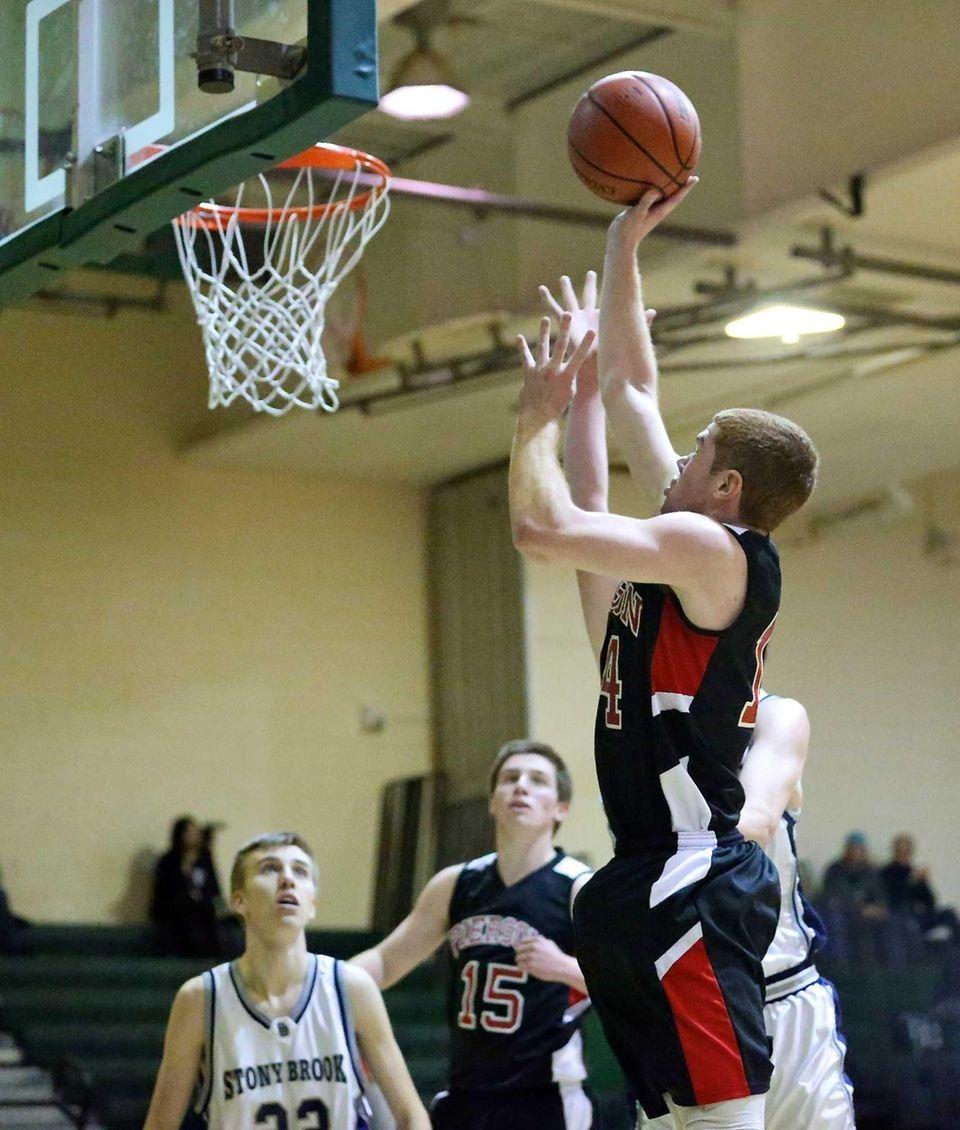 Pierson's Patrick Sloane puts in the rebound for