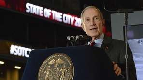 New York City Mayor Michael Bloomberg delivers his