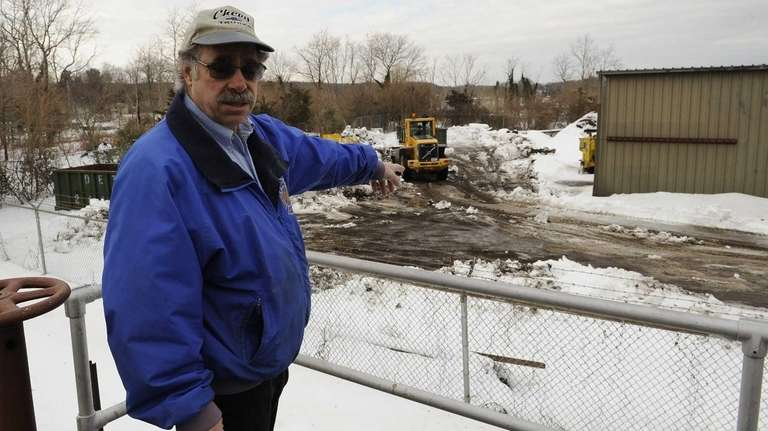 Northport Village Administrator Gene Guido gestures to the
