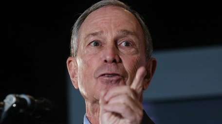 New York Mayor Michael Bloomberg delivers the annual
