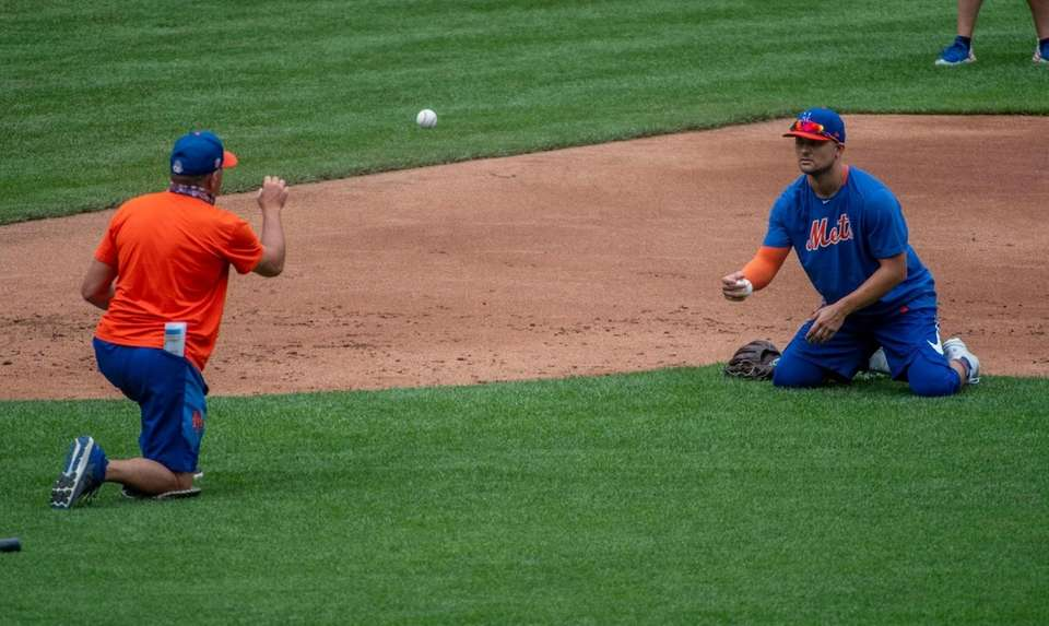 New York Mets player J.D. Davis during a