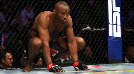 Welterweight champion Kamaru Usman prepares for his title