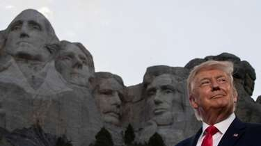 President Donald Trump at Mount Rushmore National Memorial