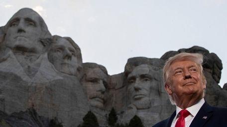 President Donald Trump at Mount Rushmore National Memorial