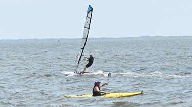 Windsurfer Steve Scioscia, of East Northport, in the