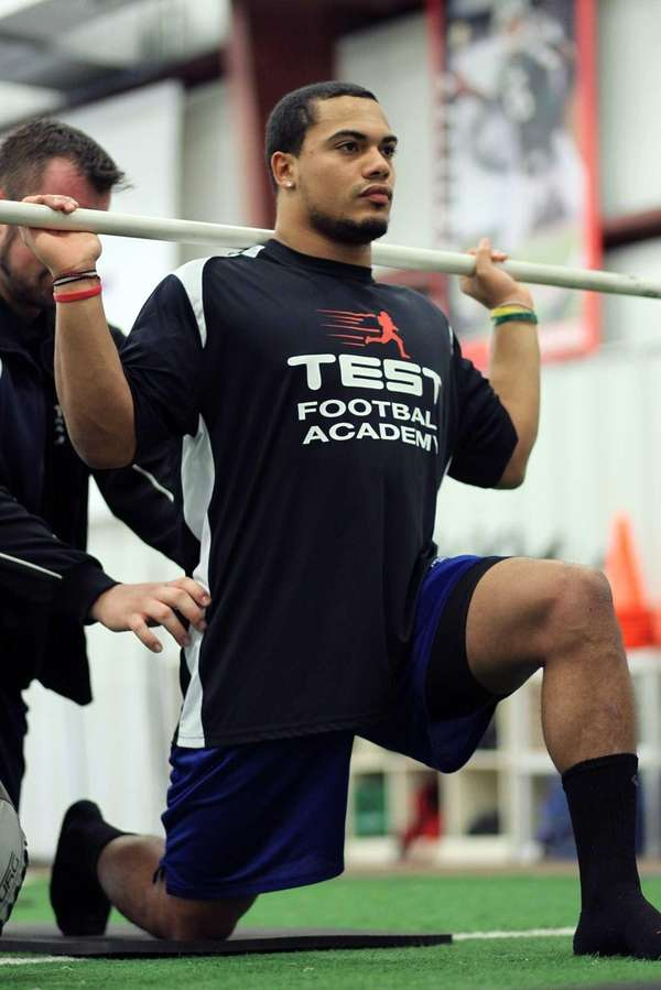 Stony Brook football standout Miguel Maysonet engages in