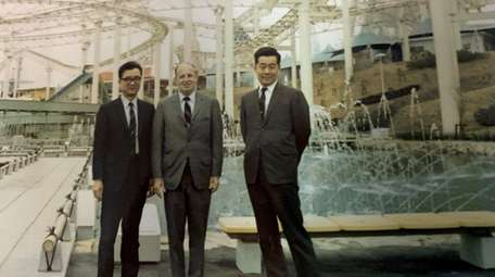 Alvin Cohen with two unidentified businessmen in 1970