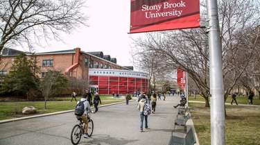 Students are shown on the Stony Brook University