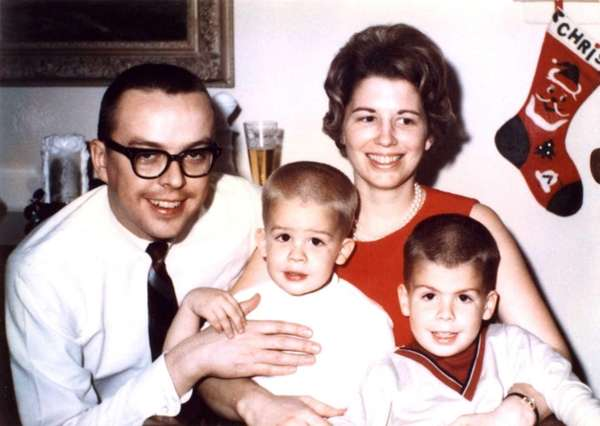 Michael Hainey, second from left, with his family,