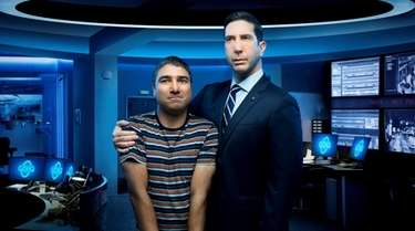 Nick Mohammed, left, co-stars with David Schwimmer in
