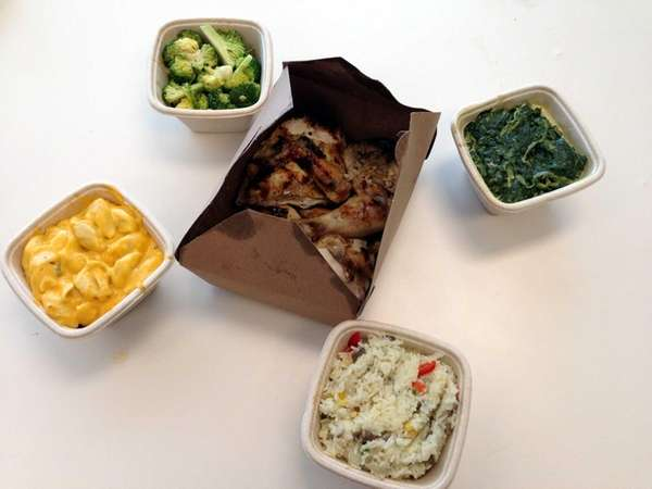 Grilltisserie chicken, plus sides, from the new Chicken