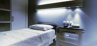 Hospital room.