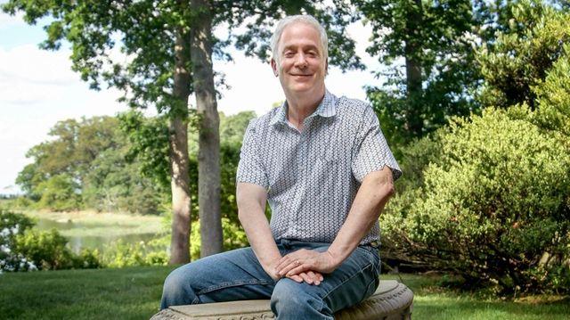 Spectronics president Jon Cooper outside his Lloyd Harbor