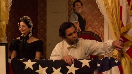 The scene where Abraham Lincoln is shot by