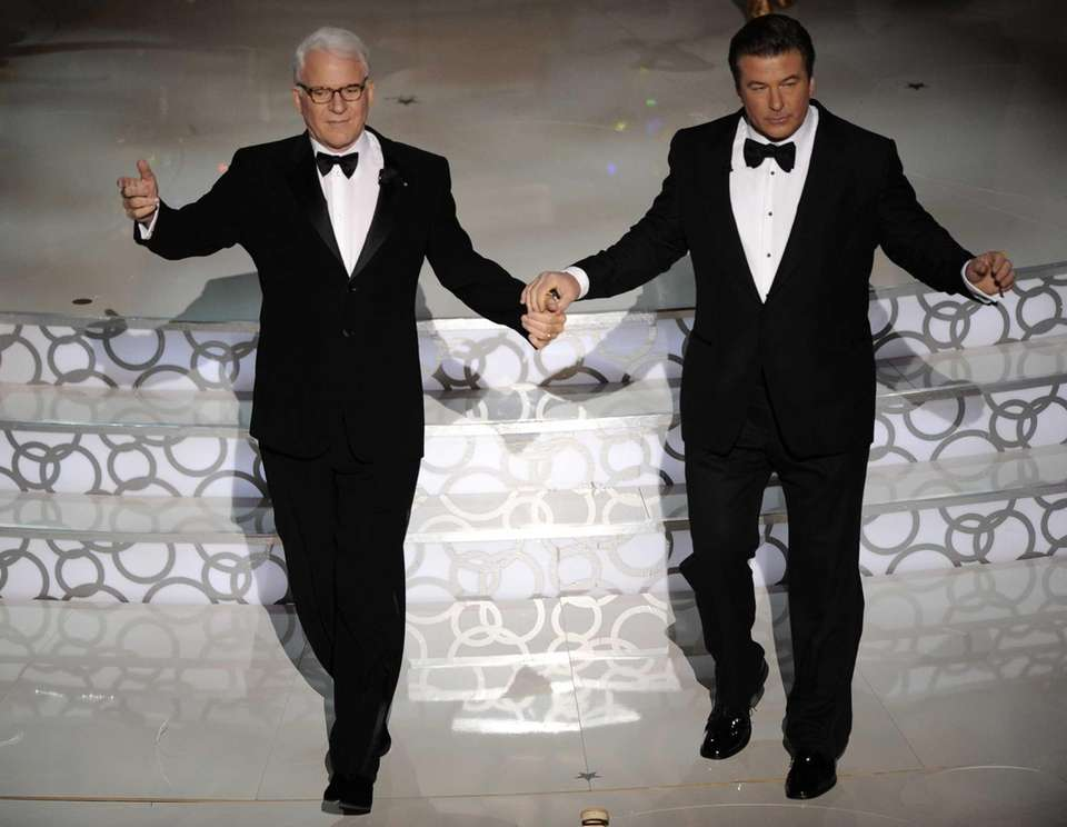 Steve Martin, left, and Alec Baldwin co-hosted the