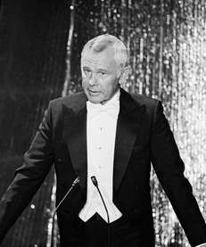 Host Johnny Carson is shown at the 52nd