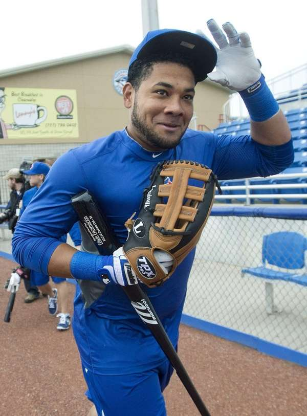 Toronto Blue Jays' Melky Cabrera runs out for
