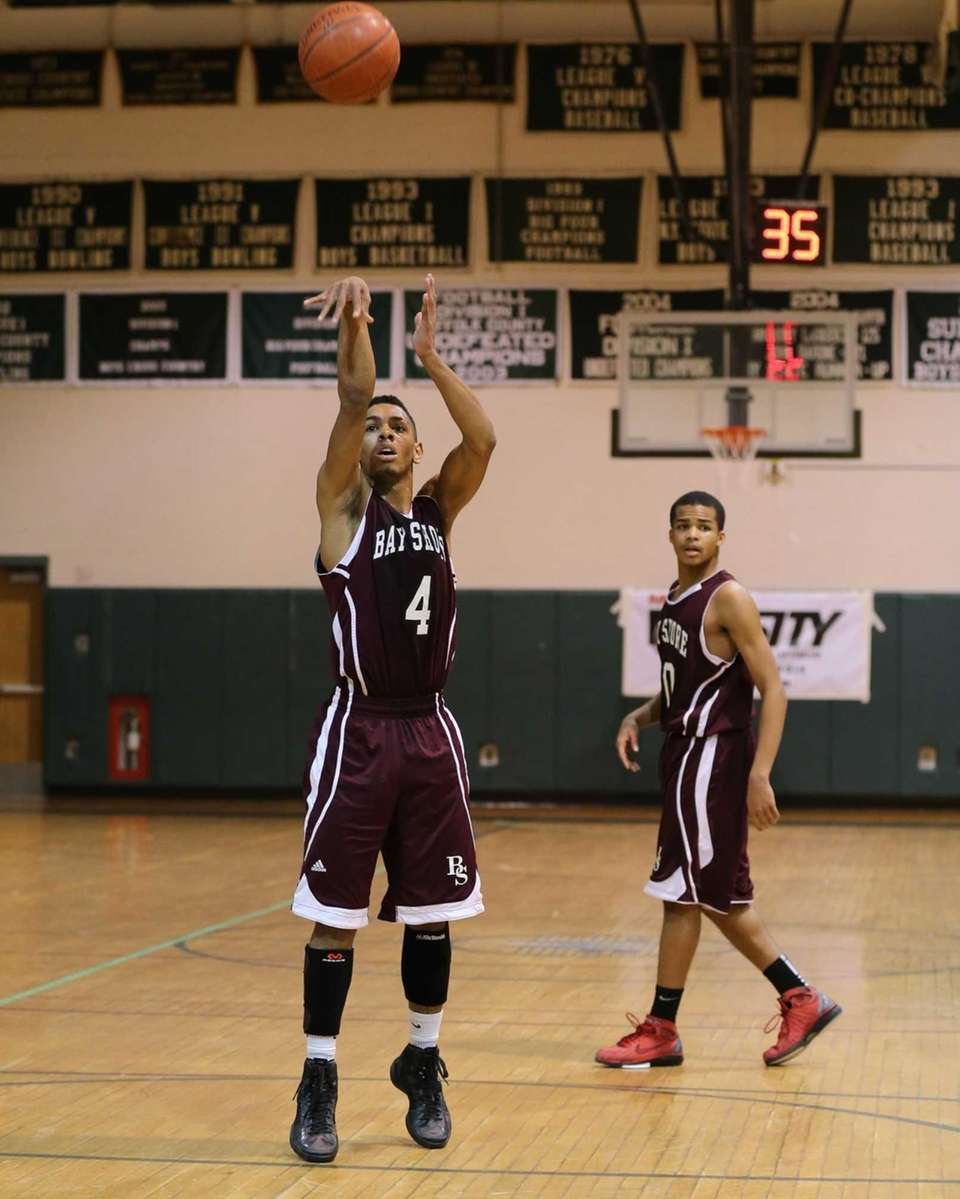 Bay Shore's Bryson Lassiter sinks a free throw