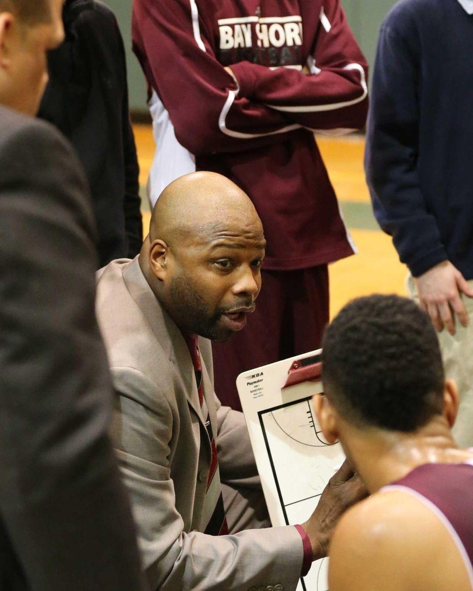 Bay Shore coach Gary Williams directs his team