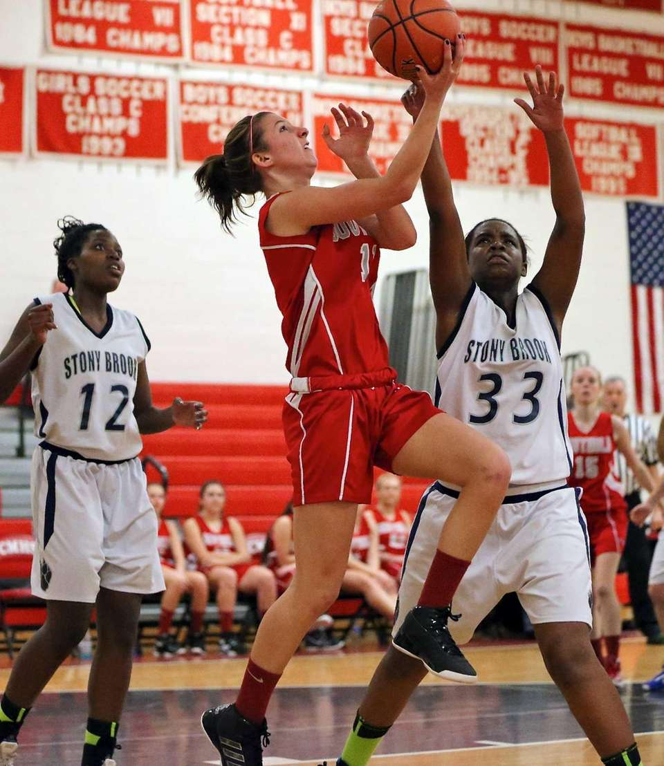 Southold's Nicole Busso puts up the reverse layup