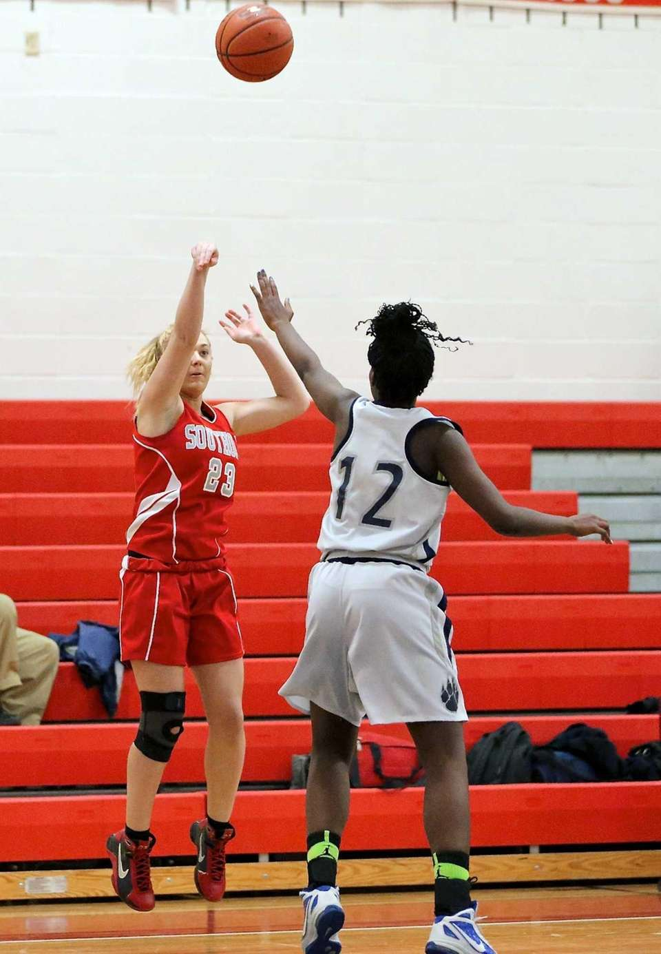 Southold's Michaela Christman puts up the shot against