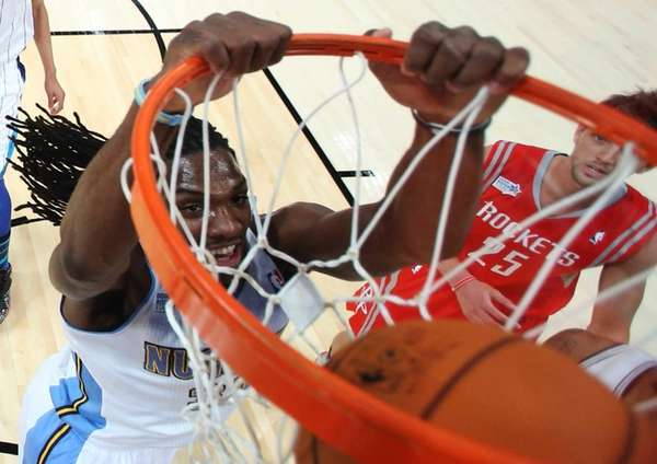 Team Chuck's Kenneth Faried, of the Denver Nuggets,