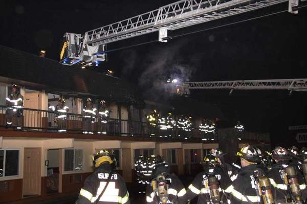 Seven fire departments were responding to a fire