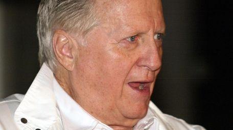 Yankees principal owner, George Steinbrenner speaks to the
