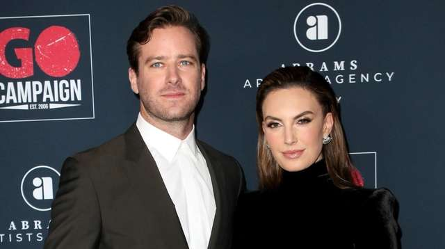 Armie Hammer and Elizabeth Chambers, who were married