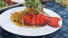 Lobster Malabar, featuring crab meat, coconut milk and