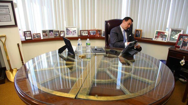 Former Nassau County Executive Thomas Suozzi speaks about