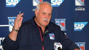 Rangers president John Davidson during press conference at