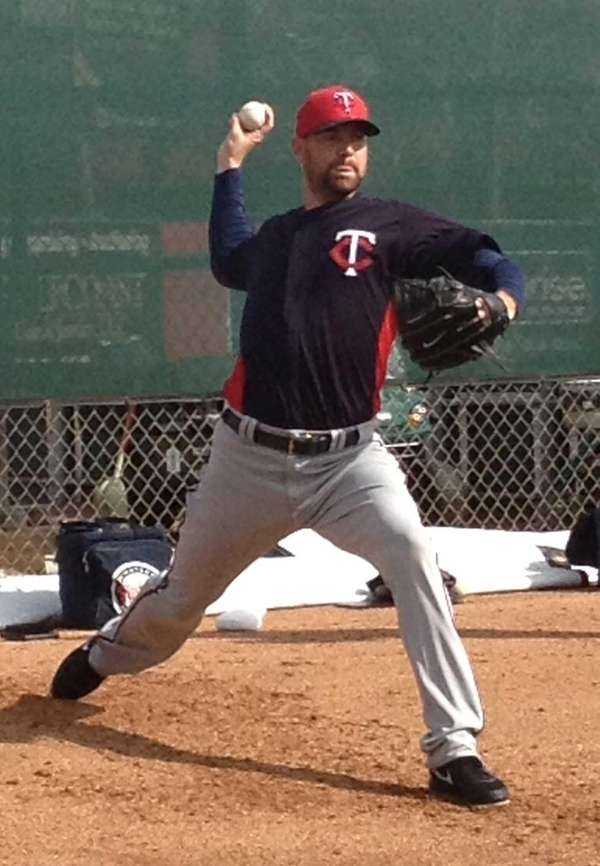 Mike Pelfrey at 2013 spring training.